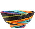 African Basket - Zulu Wire - Bowl with Base #60528