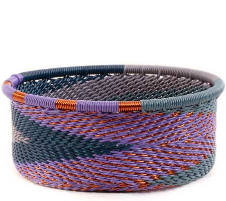 African Basket - Zulu Wire - Small Bowl with Straight Sides #61409