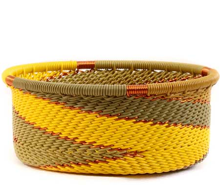 African Basket - Zulu Wire - Small Bowl with Straight Sides #61411