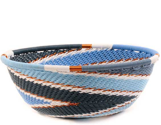 African Basket - Zulu Wire - Small Wide Bowl #61415