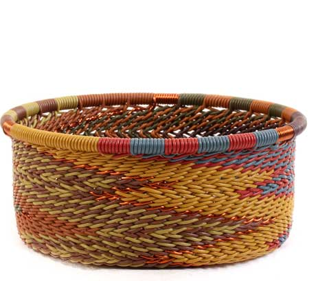 African Basket - Zulu Wire - Small Bowl with Straight Sides #62723