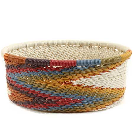 African Basket - Zulu Wire - Small Bowl with Straight Sides #62724