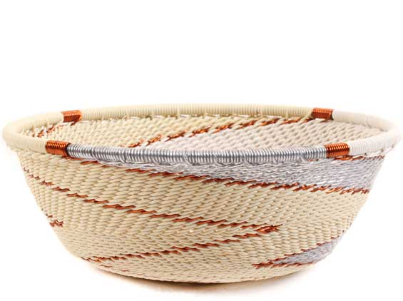 African Basket - Zulu Wire - Small Wide Bowl #62730