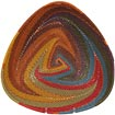 African Basket - Zulu Wire - Shallow Triangle #63379