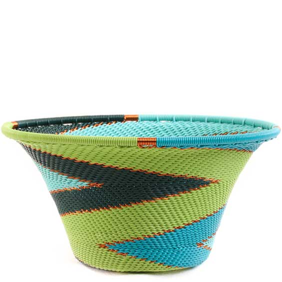 African Basket - Zulu Wire - Small Flared Bowl #63383
