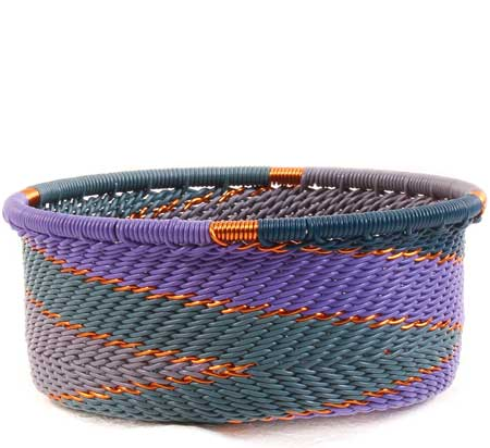 African Basket - Zulu Wire - Small Bowl with Straight Sides #63419