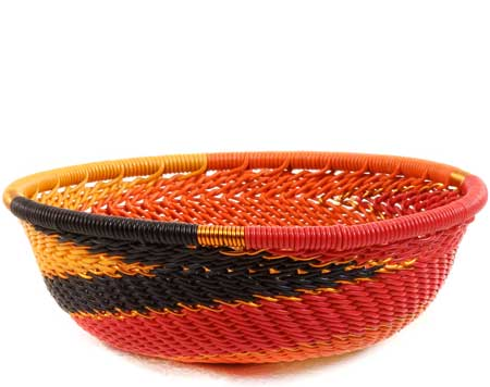 African Basket - Zulu Wire - Mini Bowl #63449