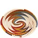 African Basket - Zulu Wire - Small Shallow Oval #63458