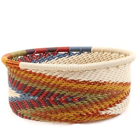 African Basket - Zulu Wire - Small Bowl with Straight Sides #64057