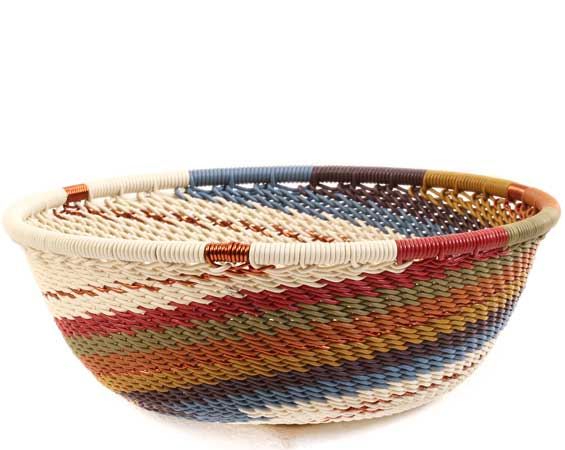 African Basket - Zulu Wire - Small Wide Bowl #64059