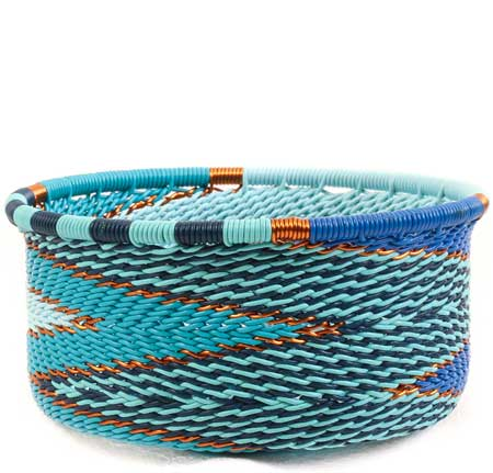 African Basket - Zulu Wire - Small Bowl with Straight Sides #64065