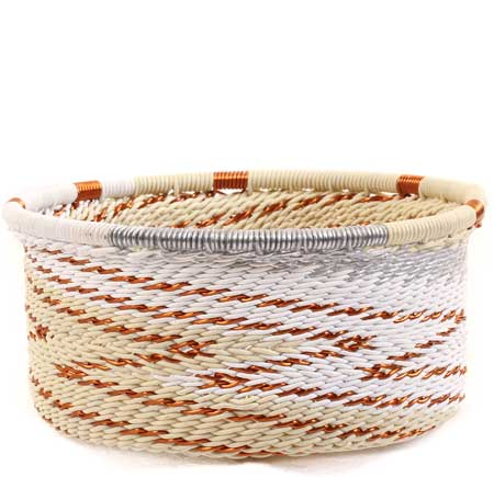 African Basket - Zulu Wire - Small Bowl with Straight Sides #64066