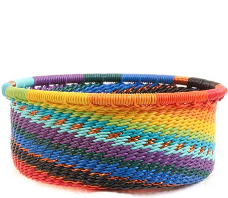 African Basket - Zulu Wire - Small Bowl with Straight Sides #65001