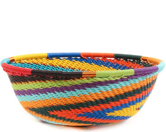 African Basket - Zulu Wire - Small Wide Bowl #65363