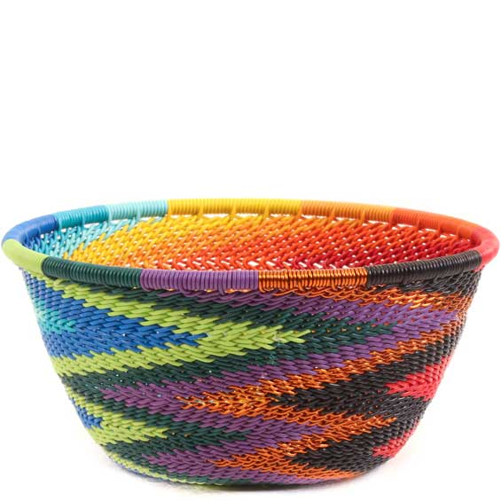 African Basket - Zulu Wire - Small Bowl #65368