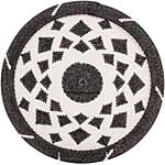 African Basket - Zulu Wire - Flat Coil Weave Plate - 12.75 Inches Across - #66351