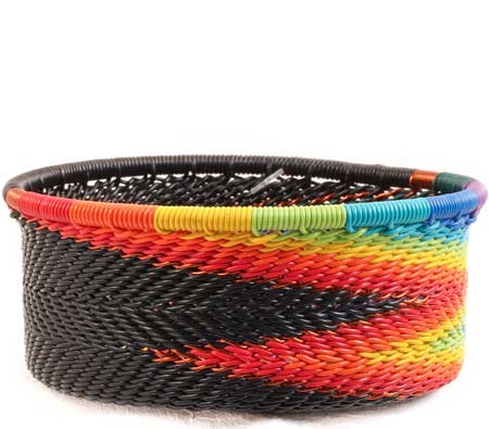 African Basket - Zulu Wire - Small Bowl with Straight Sides #67719
