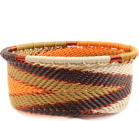 African Basket - Zulu Wire - Small Bowl with Straight Sides #67721