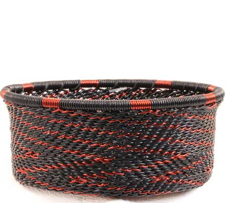 African Basket - Zulu Wire - Small Bowl with Straight Sides #67723