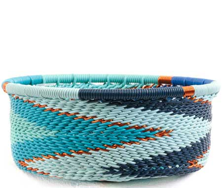 African Basket - Zulu Wire - Small Bowl with Straight Sides #67724
