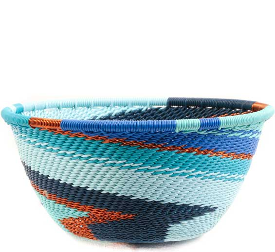 African Basket - Zulu Wire - Small Bowl #67730
