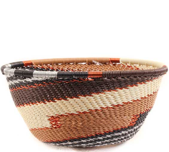 African Basket - Zulu Wire - Small Bowl #67732