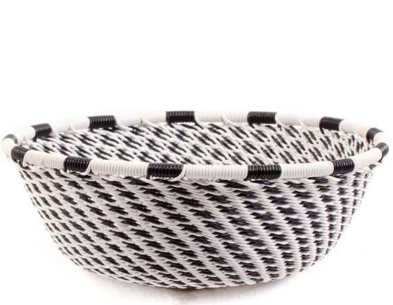 African Basket - Zulu Wire - Small Wide Bowl #68599