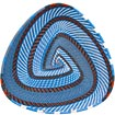 African Basket - Zulu Wire - Shallow Triangle #68635