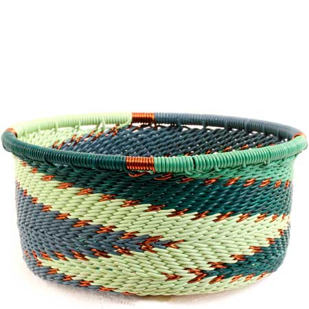 African Basket - Zulu Wire - Small Bowl with Straight Sides #68637