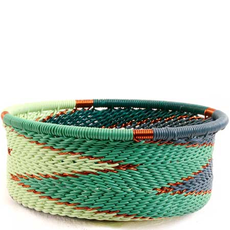 African Basket - Zulu Wire - Small Bowl with Straight Sides #68638