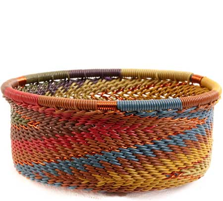 African Basket - Zulu Wire - Small Bowl with Straight Sides #68640