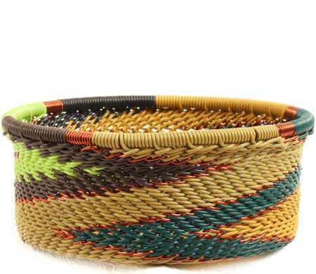 African Basket - Zulu Wire - Small Bowl with Straight Sides #69869