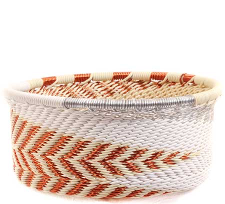 African Basket - Zulu Wire - Small Bowl with Straight Sides #69870
