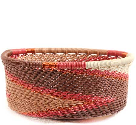 African Basket - Zulu Wire - Small Bowl with Straight Sides #69871