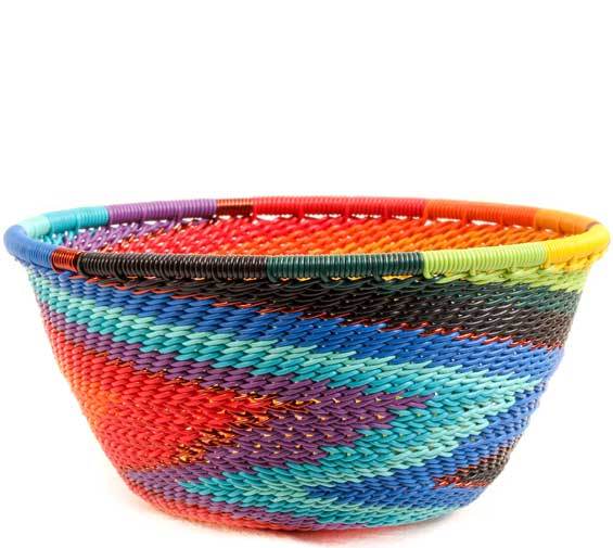 African Basket - Zulu Wire - Small Bowl #69875