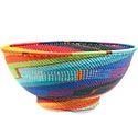 African Basket - Zulu Wire - Bowl with Base #69941