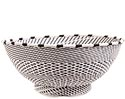 African Basket - Zulu Wire - Bowl with Base #69948