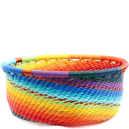 African Basket - Zulu Wire - Small Bowl with Straight Sides #71061