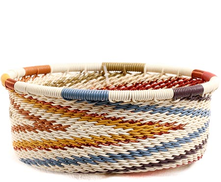 African Basket - Zulu Wire - Small Bowl with Straight Sides #73919