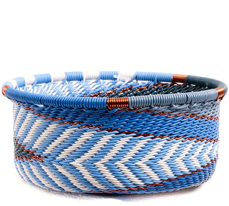 African Basket - Zulu Wire - Small Bowl with Straight Sides #73921