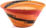 African Basket - Zulu Wire - Extra Large Funnel Bowl #9944