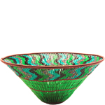 Zulu Copper Beaded Basket, Fair Trade Gifts