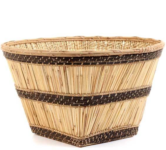 African Basket - Mossi Harvest Basket - 19 Inches Across - #53120