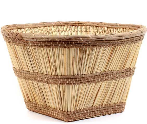 African Basket - Mossi Harvest Basket - 22 Inches Across - #53122