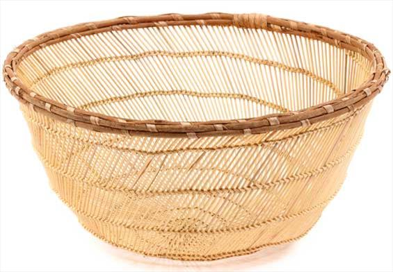 African Basket - Mossi Sieve Basket - 12 Inches Across - #53135