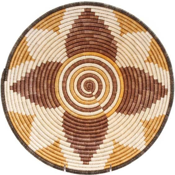 African Basket - Burundi Sisal Coil Weave Bowl - 14 Inches Across - #69584