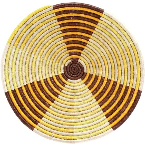 African Basket - Burundi Sisal Coil Weave Bowl - 13.5 Inches Across - #72562