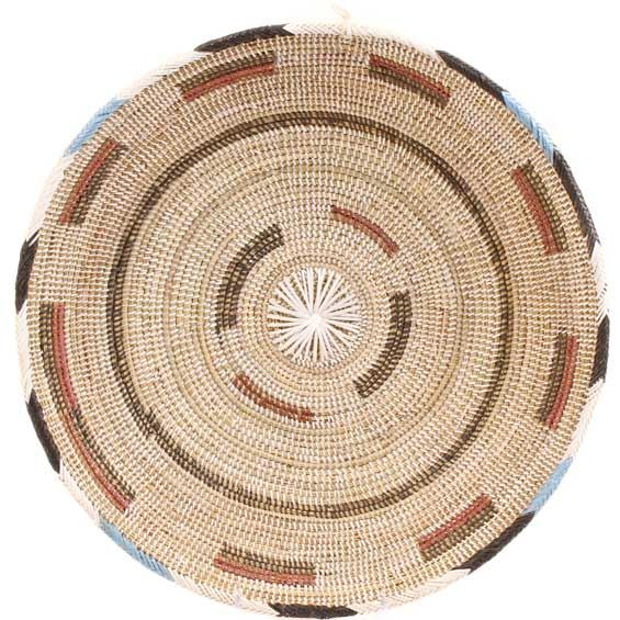 African Basket - Cameroon Coil Weave Bowl - 15 Inches Across - #68285