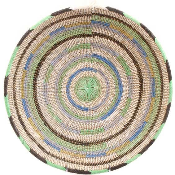 African Basket - Cameroon Coil Weave Bowl - 14.5 Inches Across - #68288
