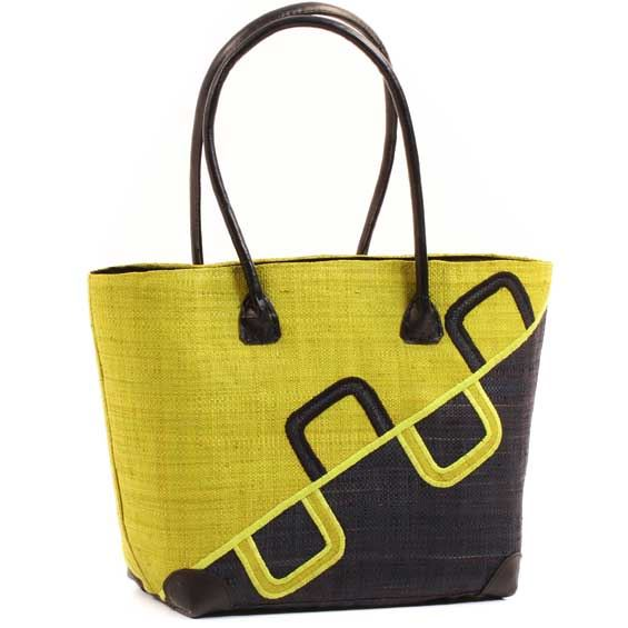 African Market Basket - Madagascar - Malagasy Tote - Approximately 15 Inches Across - #68820